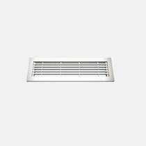 Griglia di ventilazione in alluminio / rettangolare / per il soffiaggio e la ripresa d'aria / per pavimento sopraelevato
