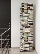 Libreria moderna / in acciaio inox verniciato / girevole