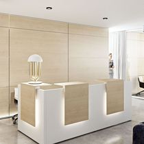 Banco reception in vetro / in MDF
