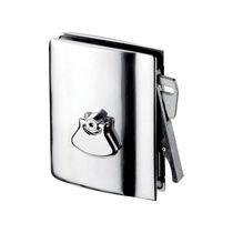 Maniglia per porta scorrevole / in metallo / moderna / con serratura integrata