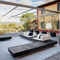 Divano d'angolo / modulare / moderno / da giardino