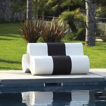 Panca da giardino / design originale / in polietilene / modulare