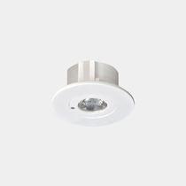 Illuminazione di emergenza da incasso a soffitto / rotonda / LED / in plastica