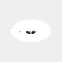 Illuminazione di emergenza da incasso a soffitto / rotonda / LED / in lamiera d'acciaio