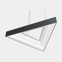 Luce a sospensione / LED / triangolare / in alluminio