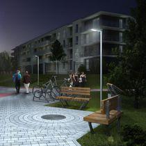 Lampione urbano / moderno / in alluminio / LED