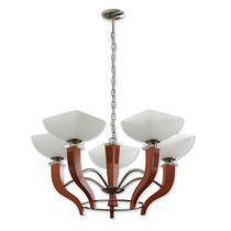 Lampadario classico / in metallo / in legno / LED