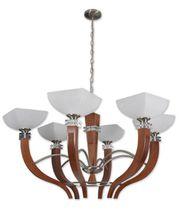 Lampada a sospensione / moderna / in legno / in vetro