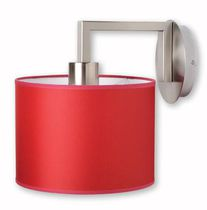 Applique moderna / in metallo / in tessuto / LED