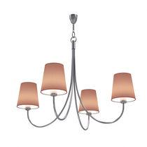 Lampadario classico / in metallo / in tessuto / LED