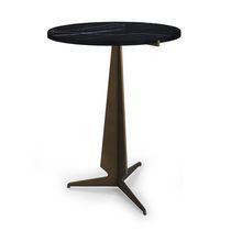 Tavolino moderno / in metallo / rotondo