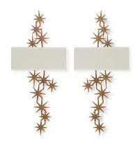 Applique design originale / in ottone / in metallo