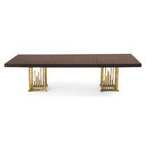 Tavolo da pranzo classico / in mogano / rettangolare / allungabile