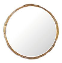 Specchio a muro / classico / rotondo / in legno