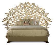 Testiera per letto matrimoniale / classica / in legno