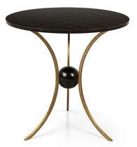Tavolino classico / in legno / in metallo / rotondo