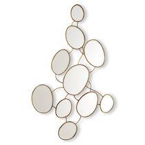 Specchio a muro / design originale / ovale / in metallo