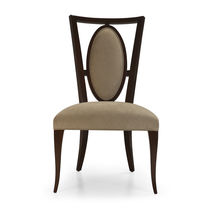 Sedia da pranzo classica / imbottita / in legno