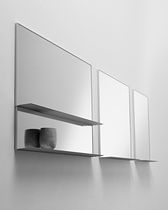 Specchio a muro / con ripiano / moderno / rettangolare