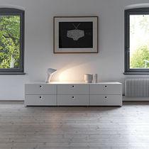 Cassettone moderno / in legno laccato / bianco