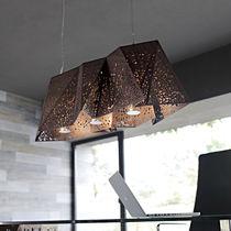 Lampada a sospensione / design originale / in noce / da interno