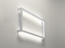 Applique moderna / in alluminio / fluorescente / rettangolare