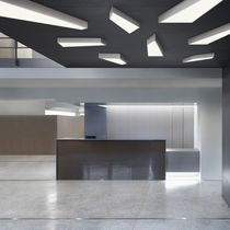 Plafoniera moderna / in alluminio / fluorescente / da interno