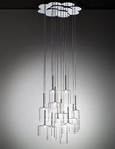 Lampada a sospensione / moderna / in vetro / in metallo