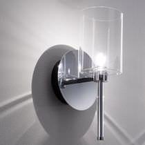Applique moderna / in metallo / in vetro / alogena