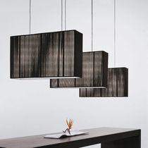 Lampada a sospensione / moderna / in seta / in metallo