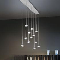 Lampada a sospensione / moderna / in alluminio / in vetro