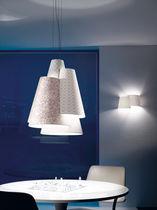Lampada a sospensione / design originale / in tessuto / in metallo