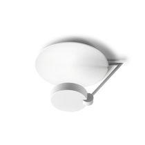 Plafoniera moderna / rotonda / in acciaio / in metacrilato