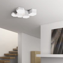 Plafoniera moderna / in alluminio / in policarbonato / LED