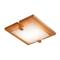 Plafoniera moderna / quadrata / in legno / da interno