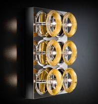 Applique moderna / in vetro / in metallo / quadrata