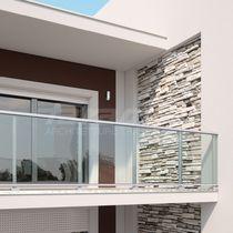 Ringhiera in vetro / in alluminio / a pannello in vetro / da esterno