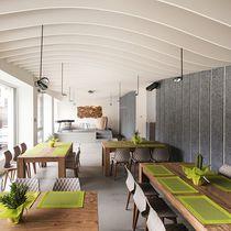 Pannello fonoassorbente per muro interno / per controparete / in lana di legno / per uso residenziale