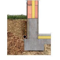 Isolante termico / in lana di legno / per fondazioni / per parete