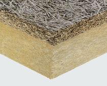 Isolante accoppiato ad alte prestazioni / isolante in lana di legno / anima in lana di roccia / monofacciale in legno