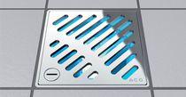Piletta in acciaio inox / quadrata / per doccia