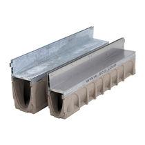 Canaletta per spazio pubblico / in acciaio inox / a fessura laterale