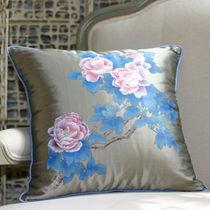 Tessuto da tappezzeria / a fiori / in doppioni di seta
