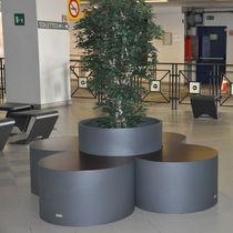 Panca con fioriera integrata / pubblica / moderna / in legno