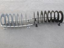 Rastrelliera per biciclette in acciaio zincato / design originale / per spazi pubblici
