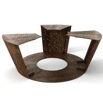 Griglia di protezione per alberi in acciaio galvanizzato / in acciaio COR-TEN® / con panchina integrata