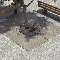 Griglia per alberi in acciaio galvanizzato / rotonda