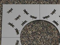 Griglia per alberi in acciaio / rotonda / quadrata