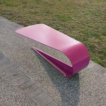 Panca pubblica / moderna / in acciaio inossidabile / a doppia seduta