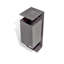 Pattumiera pubblica / in acciaio / con portacenere integrato